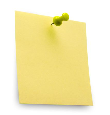 posting: A yellow post it note with spin