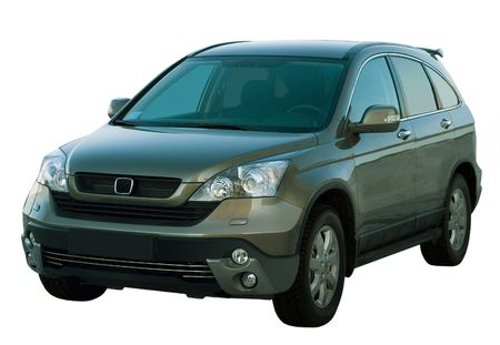 honda: Car isolated. The modern SUV. Isolated on a white background for easy use.