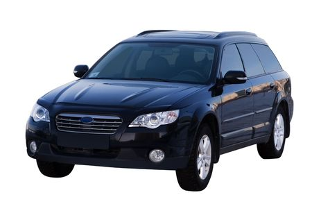 subaru: The modern car. Isolated on a white background for easy use.