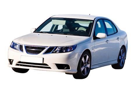 현대 자동차입니다. 흰색 배경에 쉽게 사용할 격리.