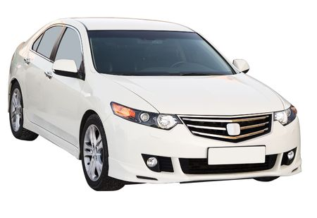accord: The modern car. Isolated on a white background for easy use.