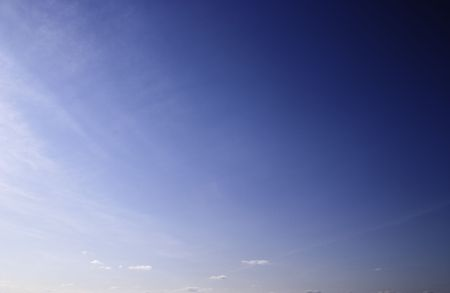 A clear sky at noon. The lower part of the frame coincides with the horizon line. Stock Photo - 4547416