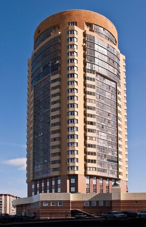 highriser: High residential house in Yekaterinburg. Residential and office space.
