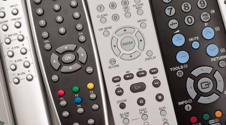 remote controls: Remote controls for close-up. Stock Photo