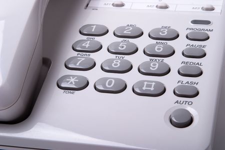 Office white phone close-up. Stock Photo - 4666741