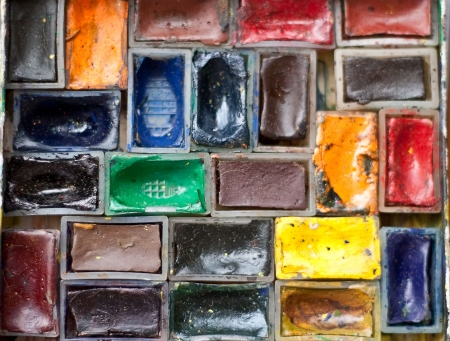 crafty: Watercolor paints close up