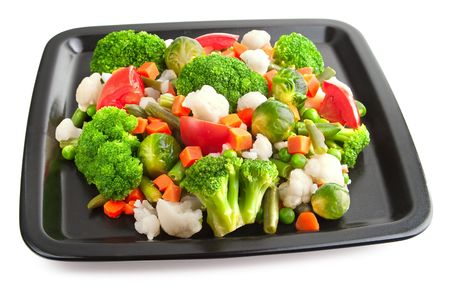 nonfat: Vegetables: cauliflower, brussels sprouts, broccoli, carrots, string beans  and tomatoes
