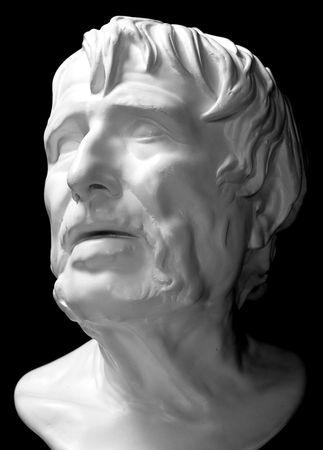 statue grecque: Plaster la t�te de l'ancien philosophe grec Socrate