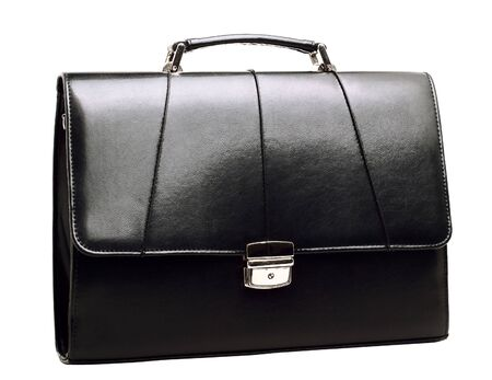 attache: Business suitcase is isolated on a white background