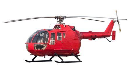 paramedic: Helicóptero moderno. Aislado en fondo blanco Foto de archivo