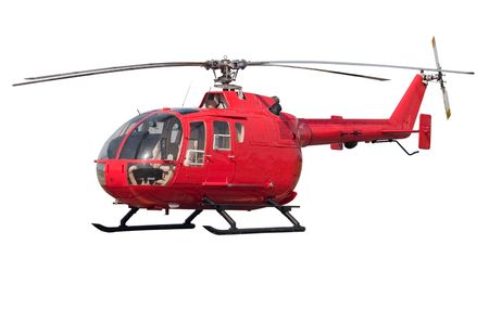 Modern helicopter. Isolated on white background