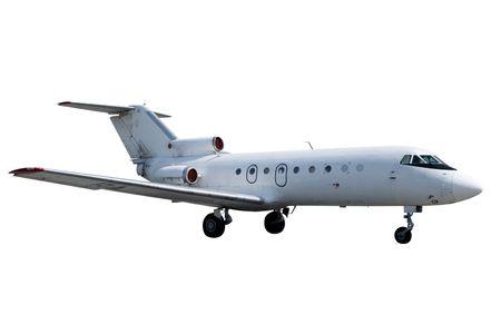 Jet isolated on white background Stock Photo