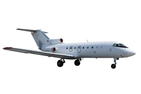 corporate jet: Jet isolated on white background Stock Photo