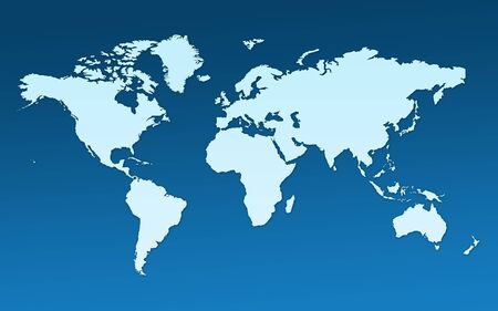 continent: Map of the whole world. Images of all continents and oceans on a flat