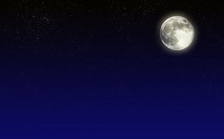 shining star: Night sky with moon. Background for any purposes