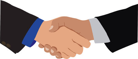 Handshake, the idea of agreement and cooperation Vector
