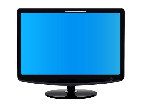 flatscreen: Flat modern TV. Front view
