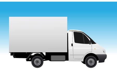 transporter: Commercial vehicle (delivery car) vectror illustration Illustration