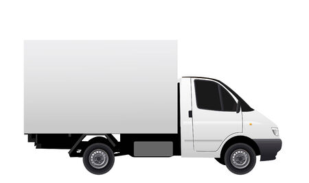 Commercial vehicle (delivery car) vectror illustration Illustration