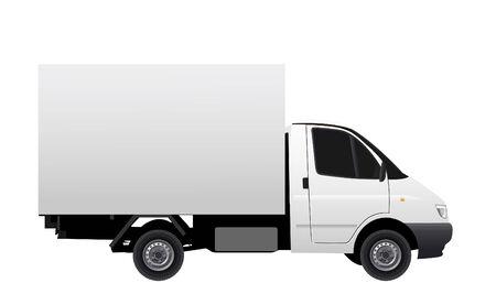 Illustration de vectror des véhicules commerciaux (voiture de livraison) Vecteurs