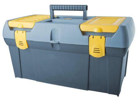 Large toolbox isolated on white photo