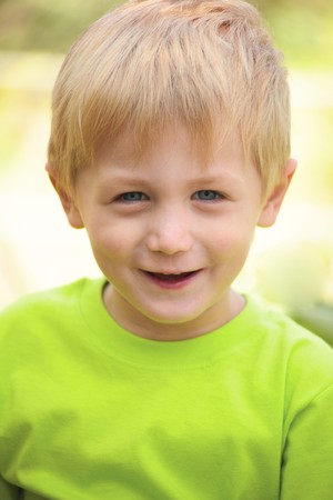 Portrait of a smiling boy in a light background Stock Photo - 7692066