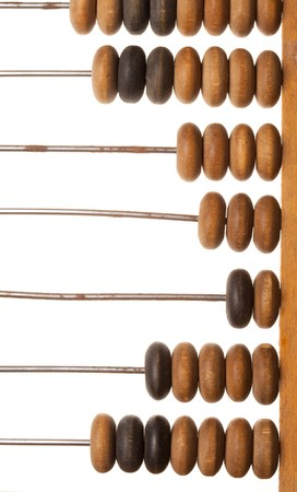 rigor: Old wooden abacus