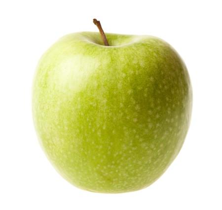 cutcat: Green ripe apple isolated Stock Photo