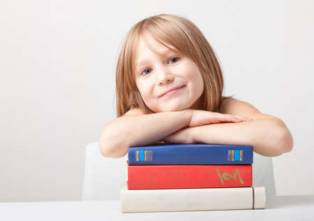 Girl with books Stock Photo - 9516851
