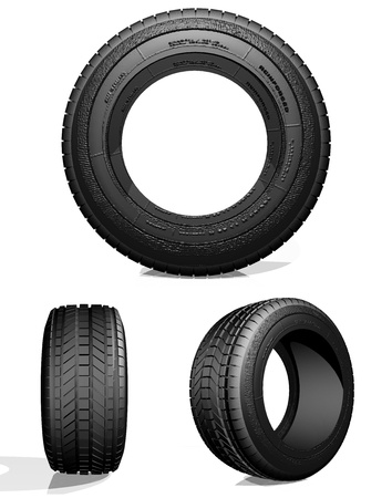 pneu: Automobile tire Stock Photo