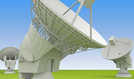 interactivity: large radio antenna Stock Photo