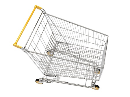 Shopping carts isolated photo