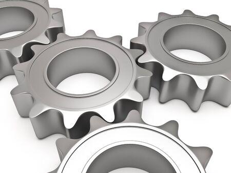 Four gears Stock Photo - 10111738