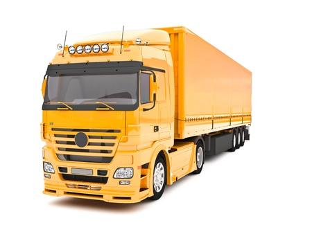 abastecimiento: Camiones de entrega Foto de archivo