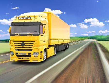 motor de carro: Camiones de entrega Foto de archivo