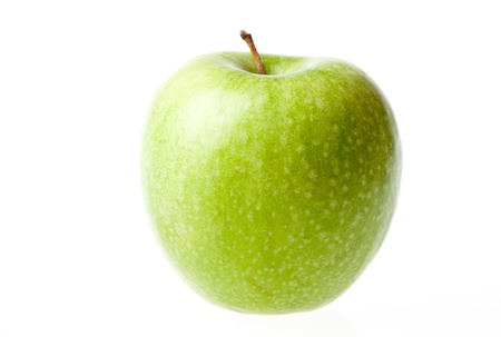 cutcat: Green ripe apple isolated Stock Photo