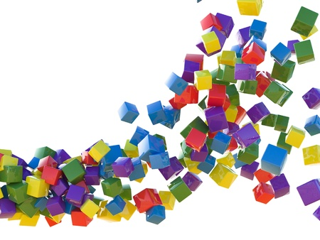 Colored cubes Stock Photo - 11790424