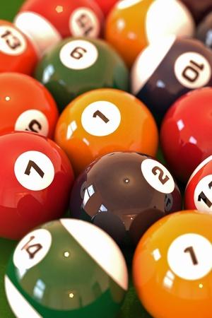 Billiard balls Stock Photo - 12510209