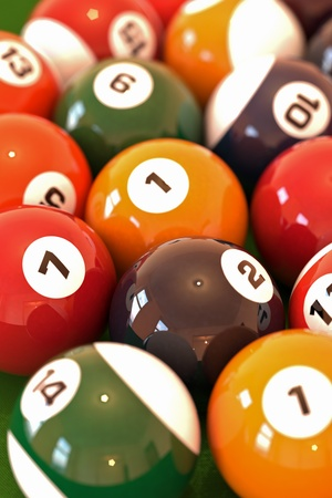 Billiard balls Stock Photo - 12510209