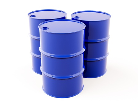 oil barrel: Blue metal barrel