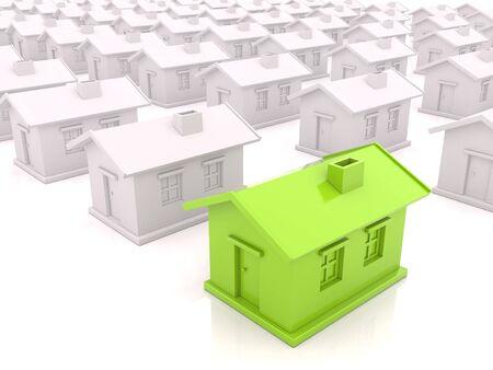 Many houses Stock Photo