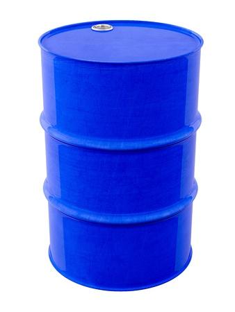 oil barrel: Barril de metal azul