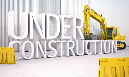 updating: Under construction Stock Photo