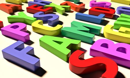 Color letters Stock Photo - 12838101