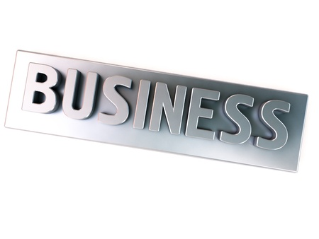Business, metal letters Stock Photo - 12838099