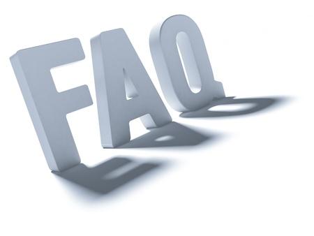 ensuring: Acronym FAQ Stock Photo