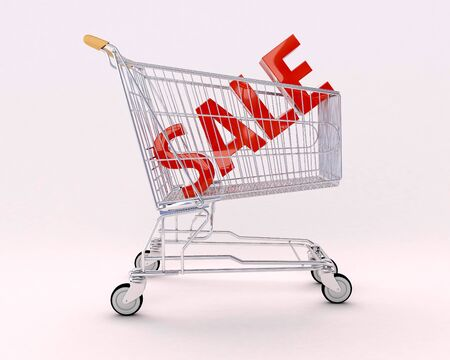 Cart for purchases and sale Stock Photo - 13325905