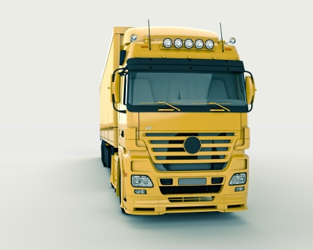 Truck on a light background Stock Photo - 13451569