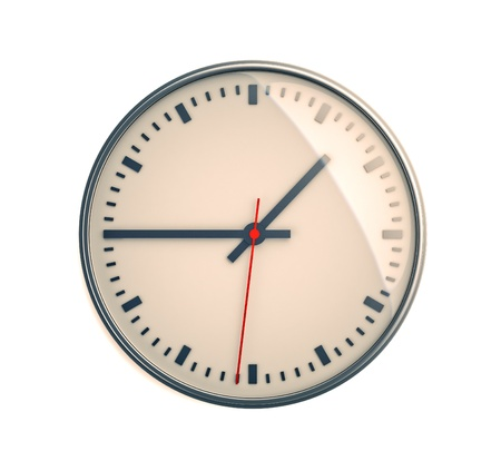 Clock on a light background Stock Photo - 14828378