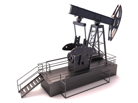 Oil rig isolated on a white background Stock Photo - 15444031